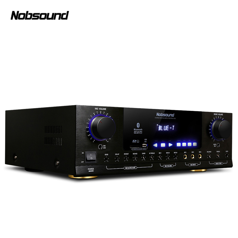 Nobsound PM1000 220V Professional KTV Karaoke Bluetooth amplifier Support USB / SD Play APE Music support