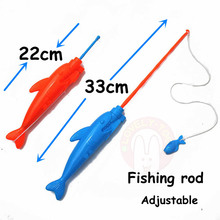 Lovely Too 12PCS Big Size Magnetic Fishing Toy With Rod Net 3D Fish Plastic Outdoor Indoor Fun Game Baby Kids Bath Toys