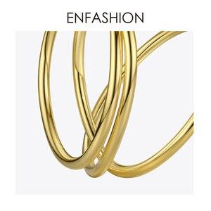 Image 5 - ENFASHION רב שכבתי מעגל Stud עגילים לנשים פאנק גיאומטרי פשוט קו עגילי הצהרת תכשיטים Oorbellen 1032