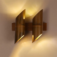 Originality Bamboo Lamp for Living Room Balcony Loft Style Vintage Wall Lights,American Style Rural Retro Wall Lamp Stair Light