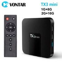 VONTAR Android 7.1 TV BOX 2GB16GB Amlogic S905W Quad Core Suppot H.265 4 K 2.4 GHz WiFi Media Player IPTV Boîte TX3 mini 1 GB 8 GB