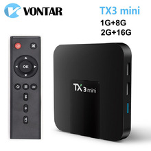 VONTAR Android 7.1 TV BOX 2GB16GB Amlogic S905W Quad Core Suppot H.265 4K 2.4GHz WiFi Media Player IPTV Box TX3 mini 1GB 8GB