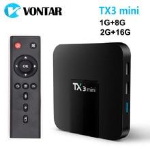VONTAR TX3 mini Android 7 1 Smart TV BOX 2GB 16GB Amlogic S905W Quad Core Set