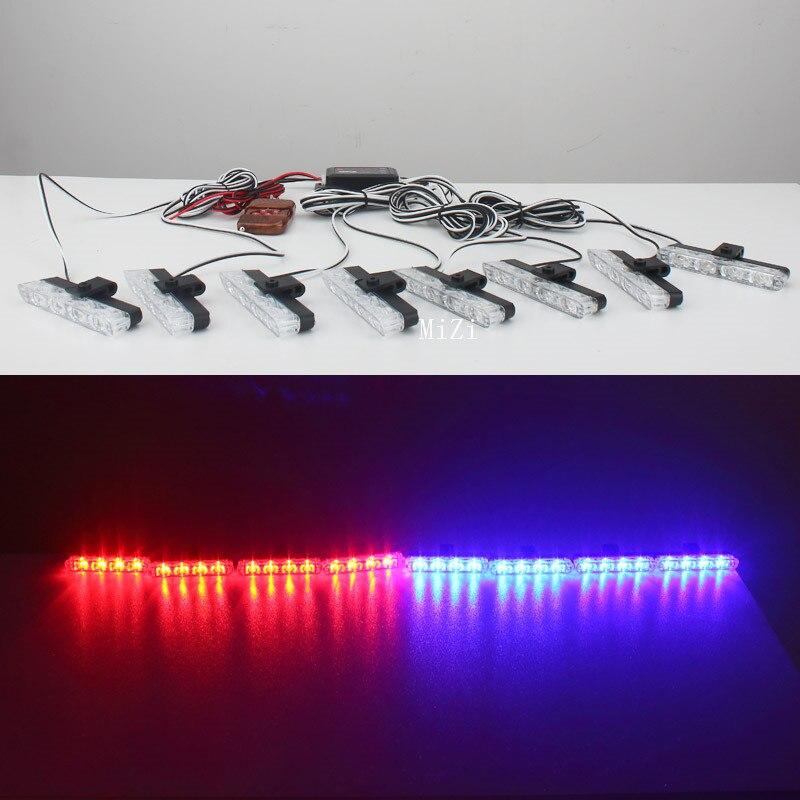 Car-styling 8x4/led Wireless Remote Controlled 32 led Ambulance Police light Car Strobe Warning Light Flashing Firemen Lights цена