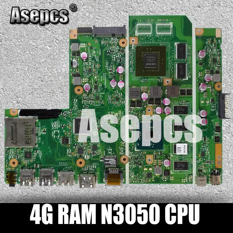 Asepcs X540SC Laptop motherboard for ASUS X540SC X540S X540 Test original mainboard 4G RAM N3050 CPUAsepcs X540SC Laptop motherboard for ASUS X540SC X540S X540 Test original mainboard 4G RAM N3050 CPU