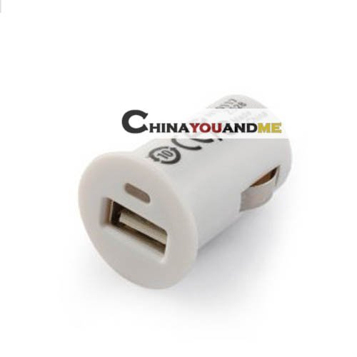 1000mA   Mini USB Car Cigarette Charger for iPhone/iPod/Cell phones  300pcs