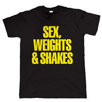 Sex Weights Shakes Mens Bodybuilding Weight Lifting Gymer T Shirt Cotton Cool Design 3D Tee Shirts