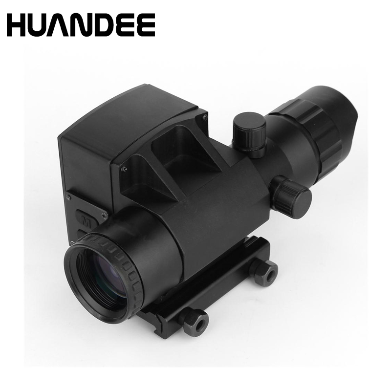 4X32 Riflescope Hunting Gunsight  with laser rangerfinder optical sight high speed measurement  range finder LS001 new 4x32 optical zoom red and green cross sight riflescope hunting gunsight for gun camera bird waching