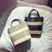 Female Straw Beach Bag Tote Crossbody Bags For Women 2019 Summer Wicker Designer Handbags Ladies Hand Rattan Shoulder Bag Sac A