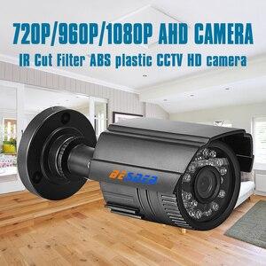 Image 2 - BESDER AHD kamera gece görüş kızılötesi güvenlik Video Surveilla gözetleme Bullet IR kesim filtresi ABS plastik CCTV HD kamera