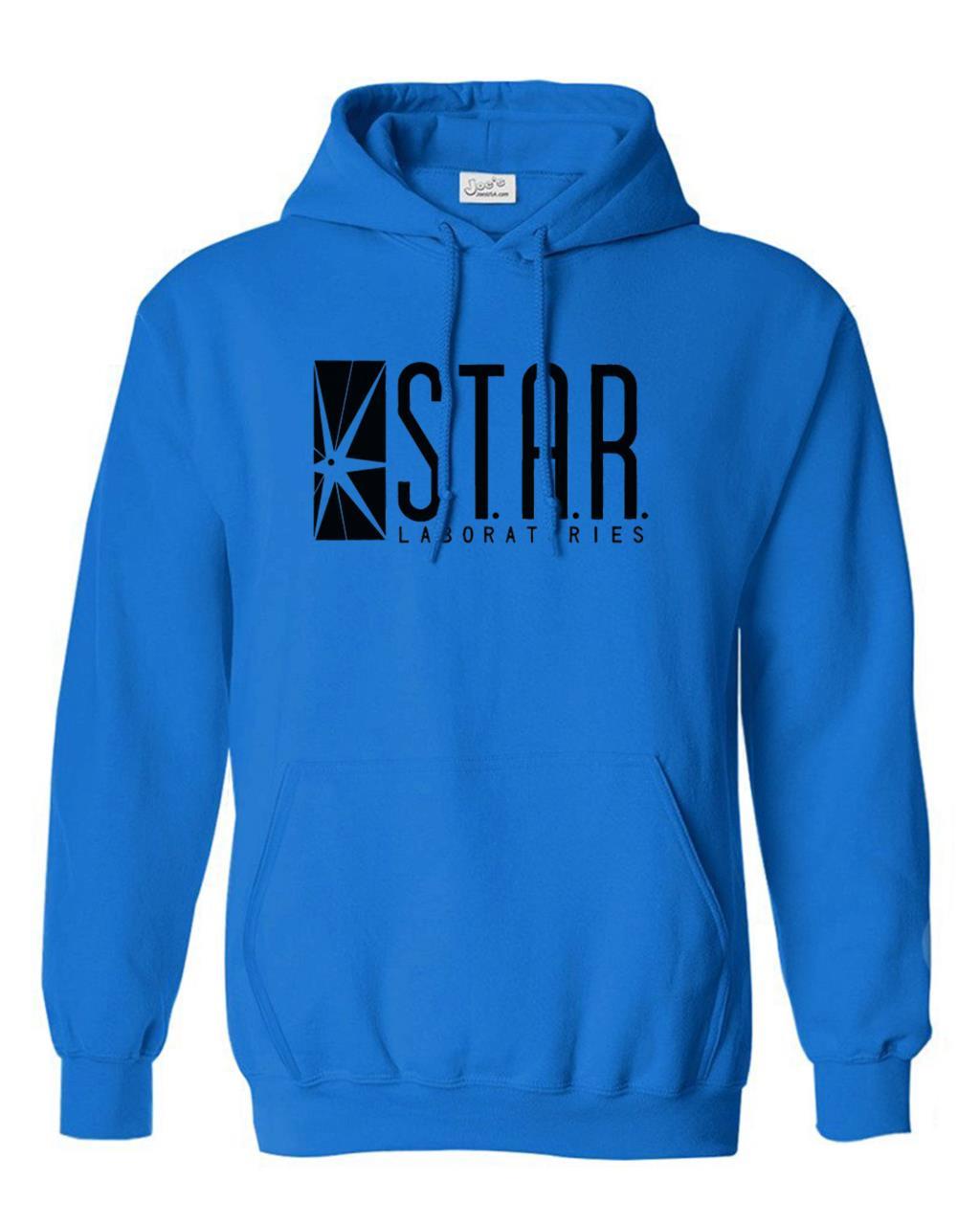 autumn brand hoodies superman series men hoody STAR S.T.A.R.labs jumper the flash gotham city comic books black sweatshirt 3