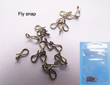 Fly Fishing Snap Hooks 25pcs per bag 2 Bags Bronze color Stainless Steel Hooked Snap