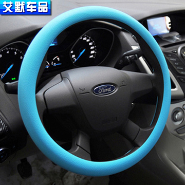 Car slip-resistant Silicone steering wheel cover For Ford kuga ecosport fiesta auto accessories AP003