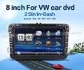Bosion 2din 8 дюймов dvd-gps для Volkswagen VW Skoda поло PASSAT CC JETTA TIGUAN TOURAN бора Touareg гольф-1 5 6 4 Fabia превосходный