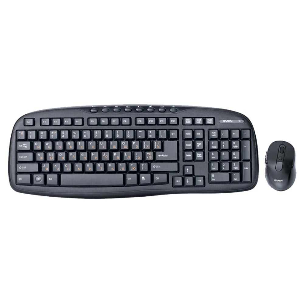 Computer & Office Computer Peripherals Mice & Keyboards Keyboard Mouse Combos SVEN SV-03103400WB mosunx simplestone 1pcs usb female to ps2 ps 2 male adapter converter keyboard mouse mice 0308