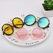 LATASHA Круглые Солнцезащитные очки с оправой, очки для детей в стиле ретро очки с оправой для очки детские солнцезащитные очки для мальчиков и девочек, UV400