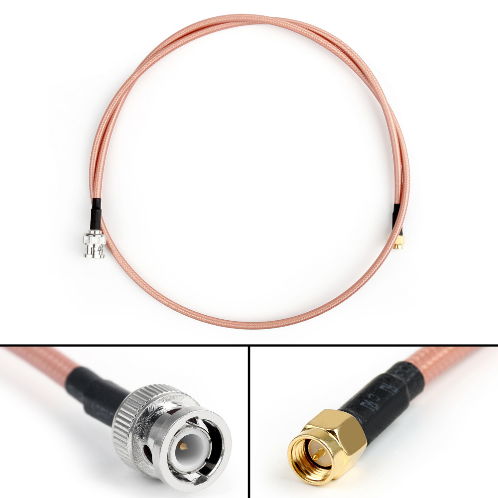 Areyourshop RG142 Cable BNC Male To SMA Male Jack Plug RF Pigtail Coax Adapter Low Loss 3ft 4Pcs 1M areyourshop sale 10pcs adapter bnc female jack to sma male plug rf connector straight gold plating