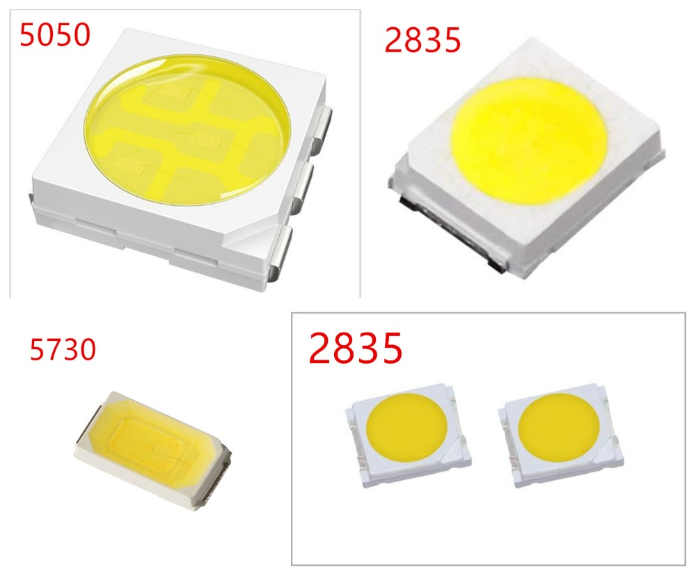 500pcs/lot 0.2W <font><b>2835</b></font> 5050 <font><b>LED</b></font> Lamp Bead White/Warm White 0.5W 5730 SMD <font><b>LED</b></font> Beads <font><b>LED</b></font> Chip DC3.0-3.4V for All Kinds of <font><b>LED</b></font> Light image