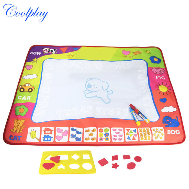 80 x 60cm Water Drawing Mat Water Coloring Board Painting Writing ...