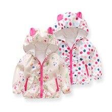 Newborn Baby Girls Cotton Long Sleeves Character Hooded Zipper Jackets