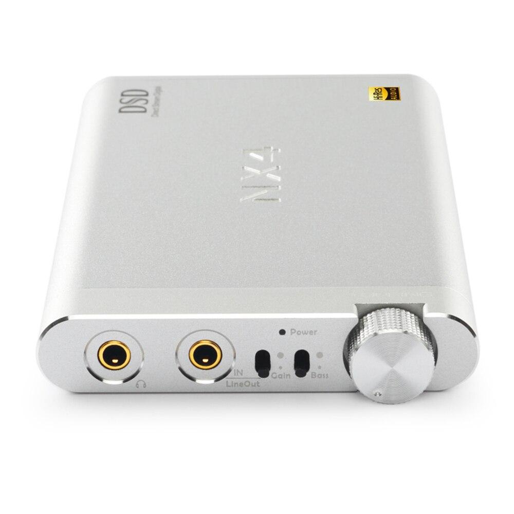 USB DAC Amplificateurs GARNITURE NX4 DSD Fièvre HiFi Portable Décodeur Casque Amplificateur DSD512 Native XMOS (XU208) + ES9038Q2M + OPA2140