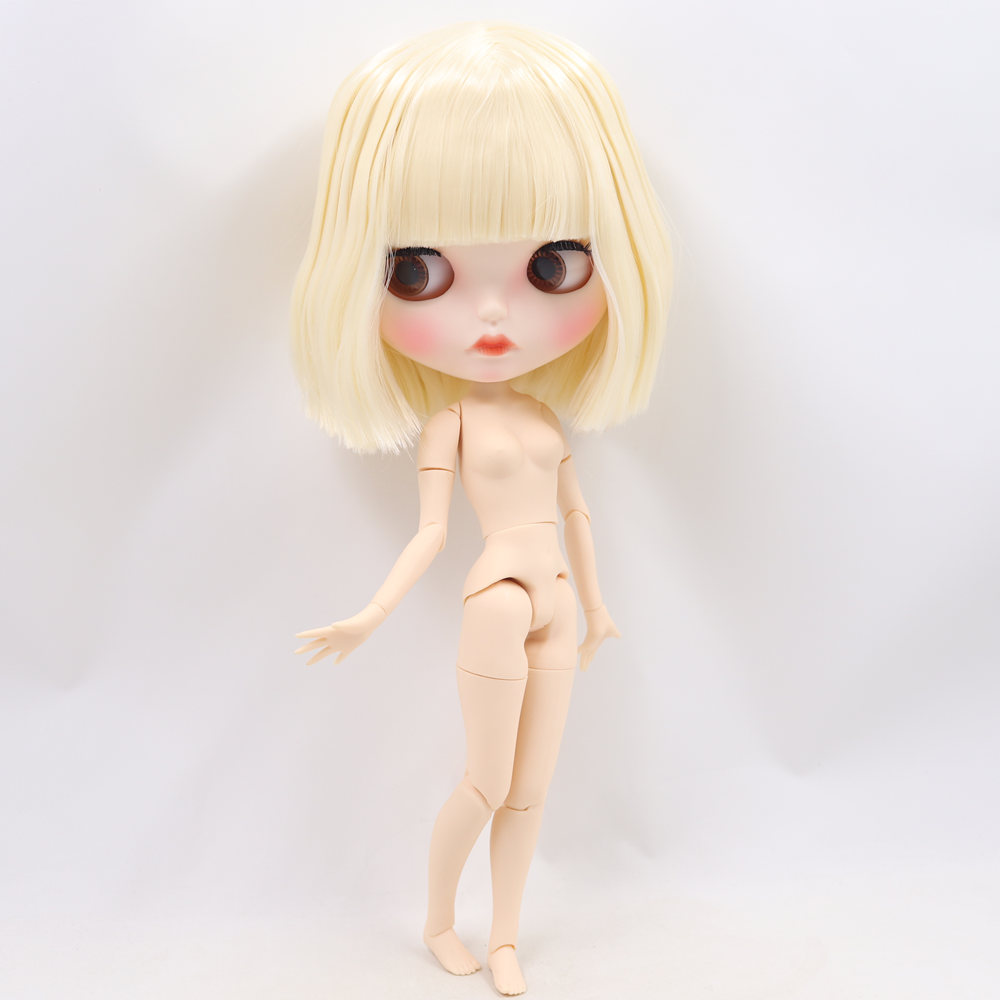 ICY Nude Blyth Doll No. BL0510 Blonde hair Carved lips Matte customized face  Joint body 1/6 bjd-in Dolls from Toys & Hobbies    3