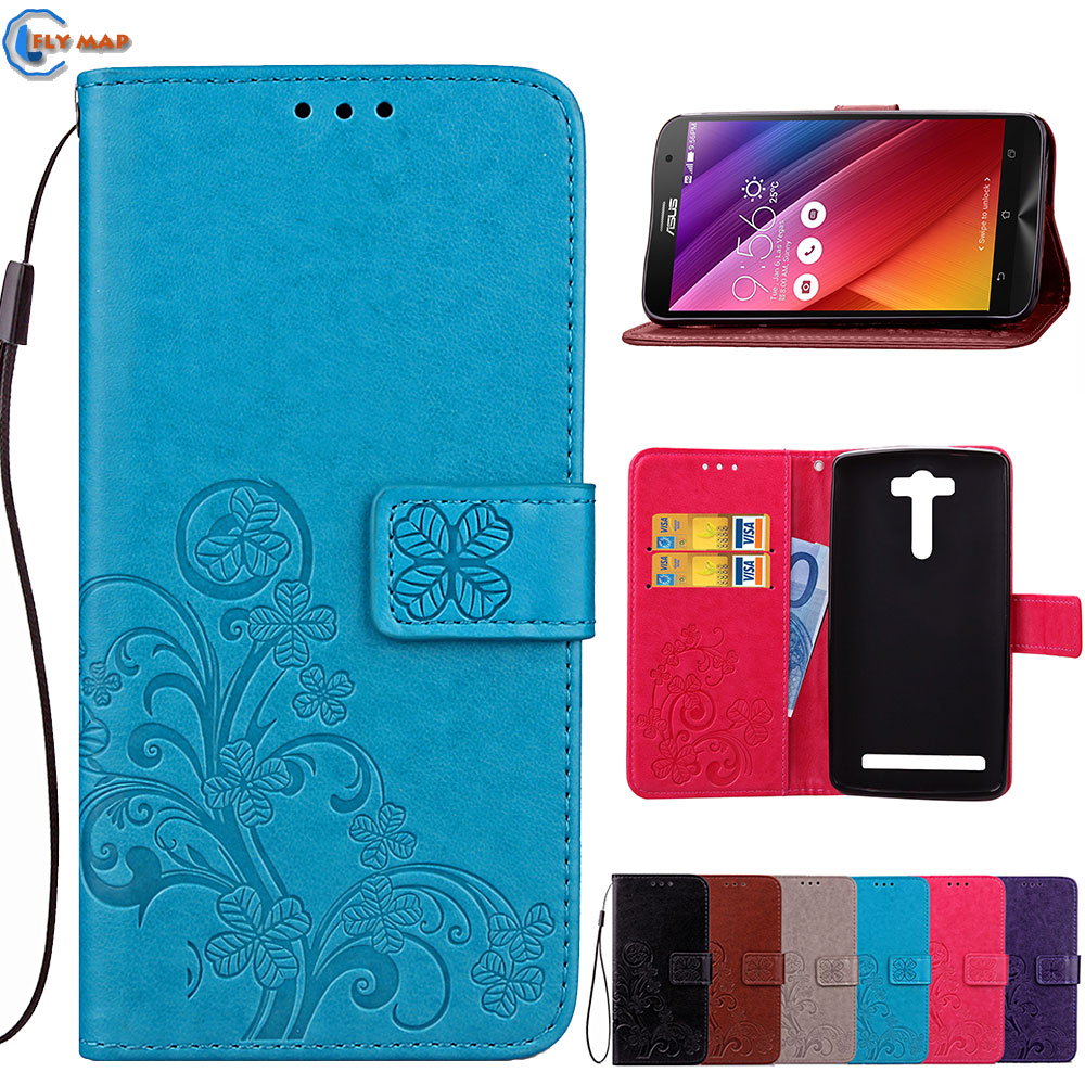 Flip Case For <font><b>ASUS</b></font> <font><b>ZenFone</b></font> <font><b>2</b></font> Laser ZE550KL Z00LD Wallet Box Phone PU Leather Cover Coque For <font><b>ASUS</b></font> ZenFone2 Laser ZE <font><b>550KL</b></font> Capa image