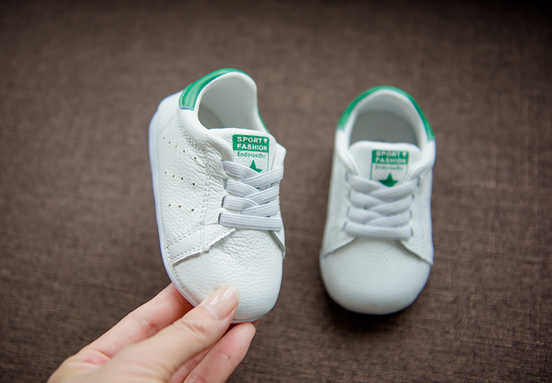 New style 2017 infant Baby moccasins genuine leather Baby shoes first walkers soft leather Crib Anti-slip casual white shoes