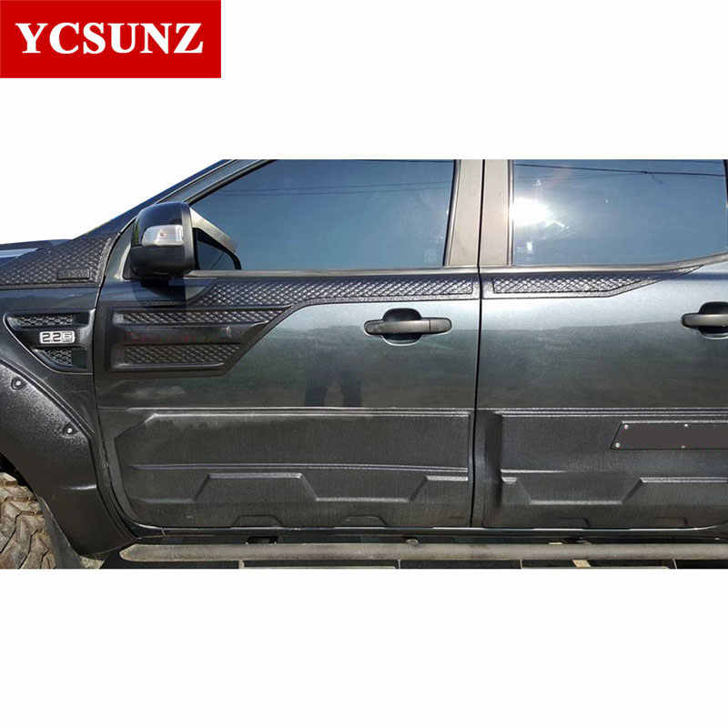 Side Molding Window Sill Trim For Ford Ranger 2017 Exterior Door Cladding Kits