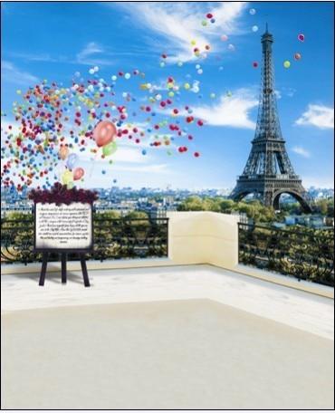 Aliexpress.com : Buy 5X7ft Eiffel Tower Scneic Vinyl