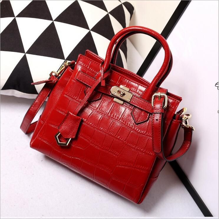 ФОТО Women bag ladies genuine leather bag women messenger bags handbags women famous brands large capacity shoulder bag bolsos tote
