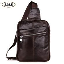 7217C J.M.D Vintage Leather Fashion Men Coffee Chest Bag Backpack Messenger Waist Packs