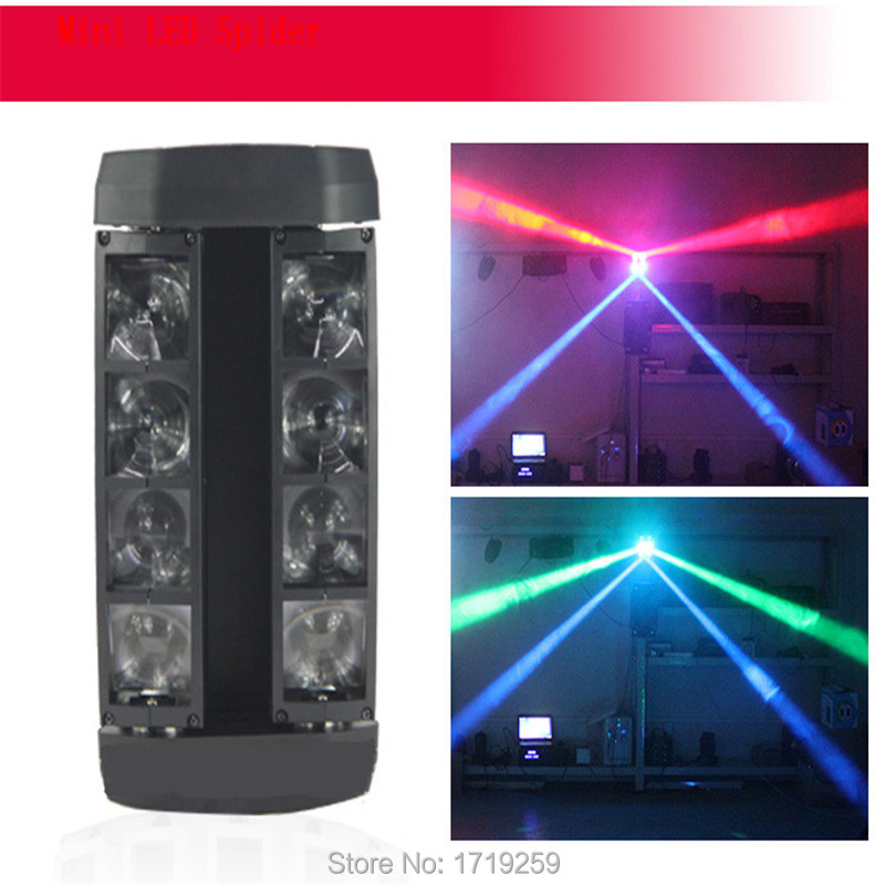 2pcs 8x6W Mini Led Spider Light Sound Mode LED Moving Head Light led Beam Stage Dj RGBW DMX512 disco lighting KTV lamps 2pcs lot rgbw double head 8x10w led beam light mini led spider light dmx512 control for stage disco dj equipments free shipping