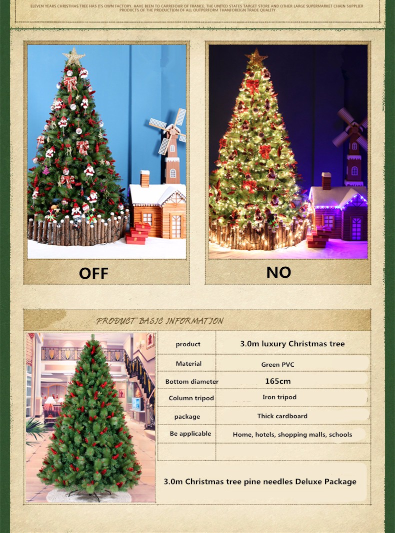 21m 30m Luxury Christmas Package Christmas Tree Pine Needles Pine Cones Large Mall Decorations Ornaments Hotel
