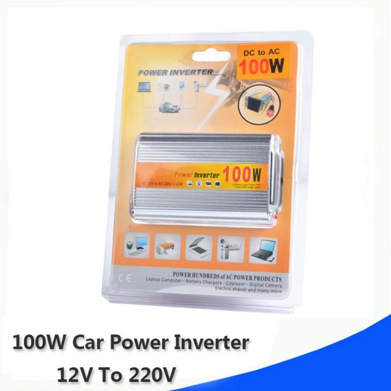 100W Auto Inverter 12V zu 220V Fahrzeug Power Converter Adapter