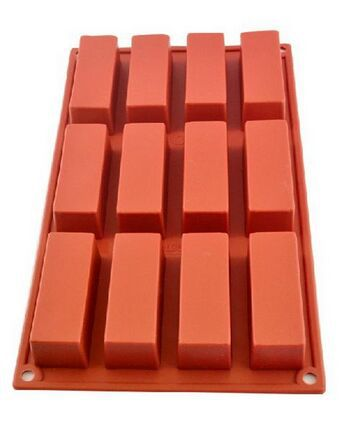 Mold 12 Cavities Rectangle Silicone Oven Handmade Soap Moulds Soap DIY Moulds Chocolate Mold
