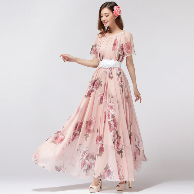 7fe7e95fb69794 Lightweight Maxi Dress Plus Size Clothing Floral Ball Gala Party Holiday  Beach Sundress pregnancy maternity baby shower Dress