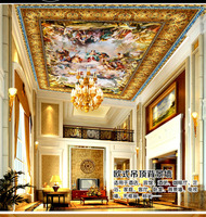 Custom Any Size Mural Wallpaper Large European and American royal fairy woman oil painting zenith mural