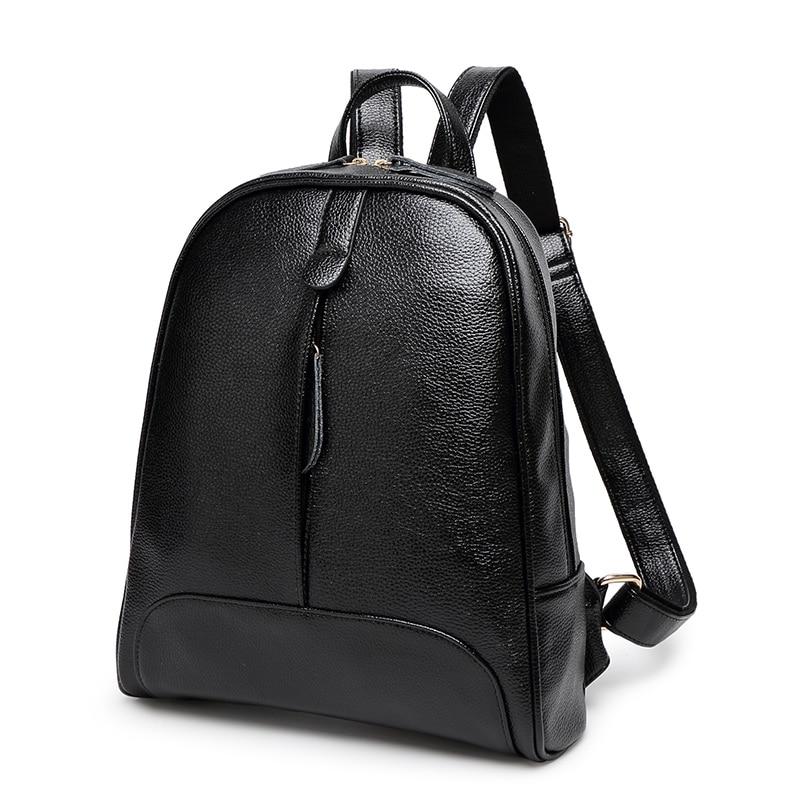 Female Women Travel Casual School Faux PU Leather Backpack Girls Ladies Backpacks Daypack Mochila