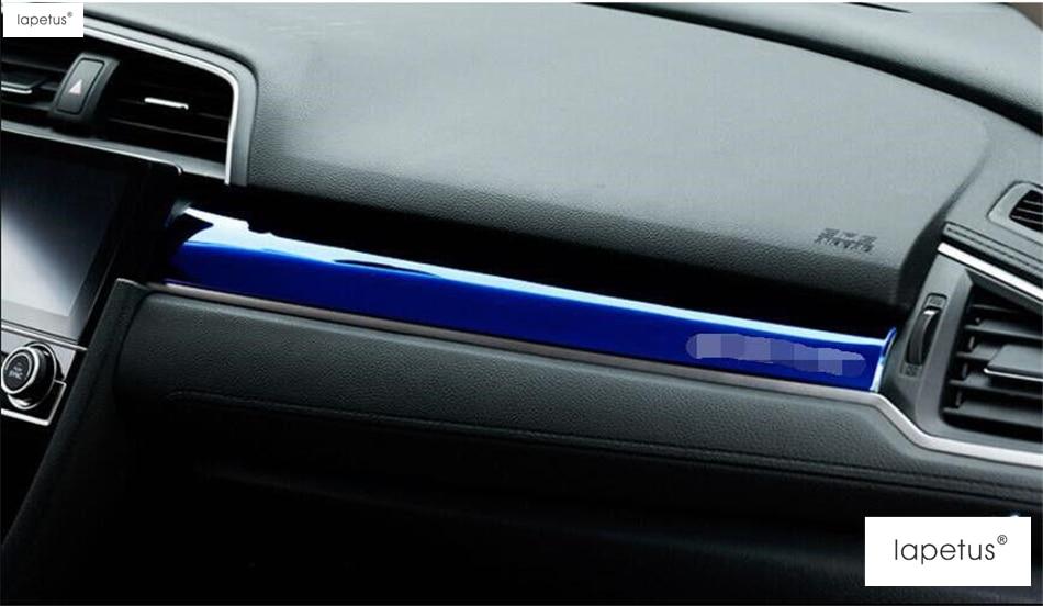2 rəng! Honda Civic 2016 2017 Control Instrument Panel Protector - Avtomobil daxili aksesuarları - Fotoqrafiya 5