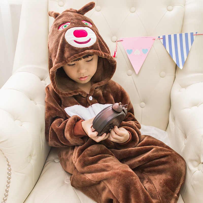 ユニコーンパジャマ onesies 子供着ぐるみボーイズ冬フランネルクマパジャマ子供ステッチ unicornio パジャマ