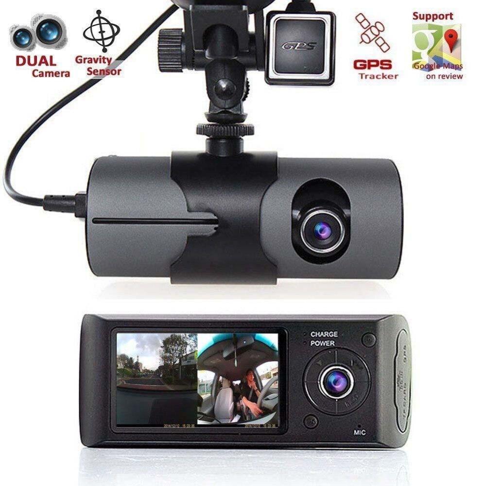 2017 Nouveau Tableau de Bord Caméra 2.7 Véhicule Voiture DVR Caméra Vidéo Enregistreur Dash Cam G-sensor GPS Double Len caméra