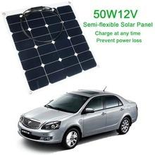 Práctico 12 v 50 w Panel Solar Sunpower Flexible Suave Herramienta de Panel de Energía Solar Monocristalino