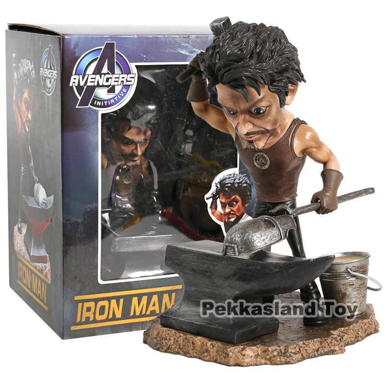 Homem de ferro Tony Stark Marcação MK1 Estátua Figura Downey Jr. mark 1 Máscara KO's Estúdios LB £ GK Vingadores Brinquedos Boneca Coleção