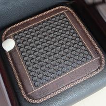 Релакс здоровья сиденье корейский матрас качество нефрит Турмалин грелку тепловой коврик Германий камень стул коврик