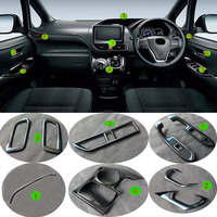 For Toyota Voxy Noah R80 2014  2018 Black Baking Paint Inner Door Window Bottons AC Vent Outlet Gear Frame Trim Covers Interior|Interior Mouldings|   -