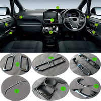 For Toyota Voxy Noah R80 2014- 2018 Black Baking Paint Inner Door Window Bottons AC Vent Outlet Gear Frame Trim Covers Interior