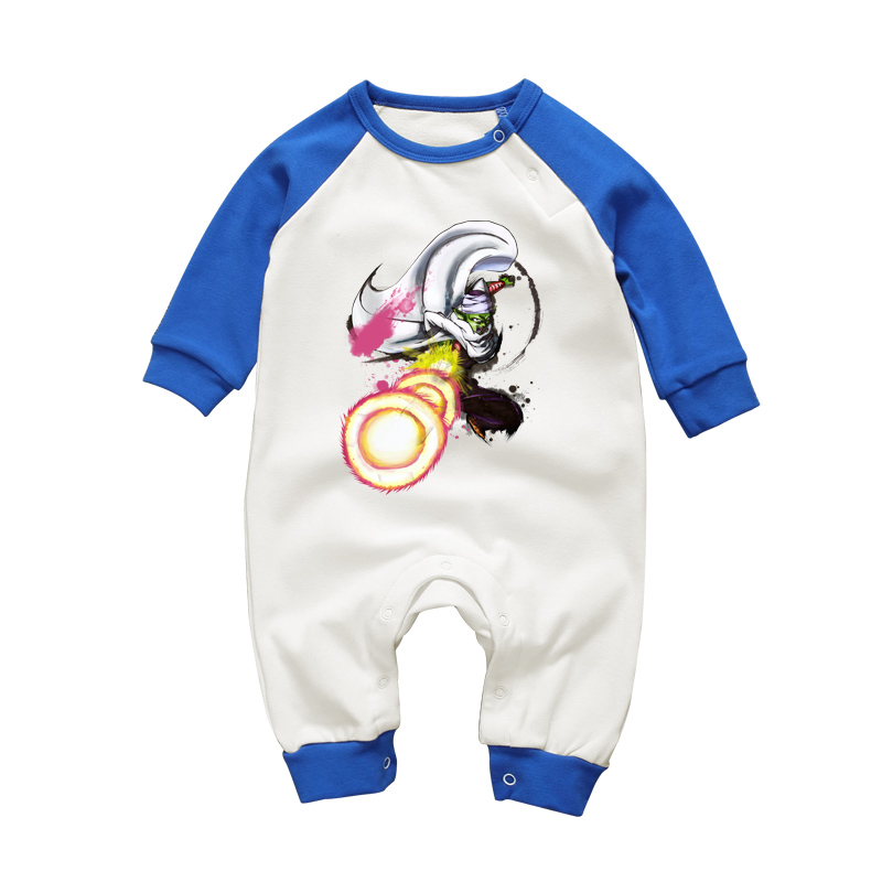 Cool Baby Boy Spring Autumn Clothing Jumpsuits Dragon Ball Piccolo Printed Newborn Full Sleeve Overalls Playsuits Infant Clothes 5pcs lot baby bodysuits original infant jumpsuits autumn overalls cotton coveralls boy girls baby clothing set cartoon outerwear