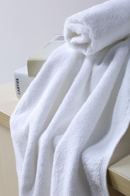 ZHUO MO Pakistan Cotton Luxury Bath Towes for home hotel White Serviette de Bain white Cotton