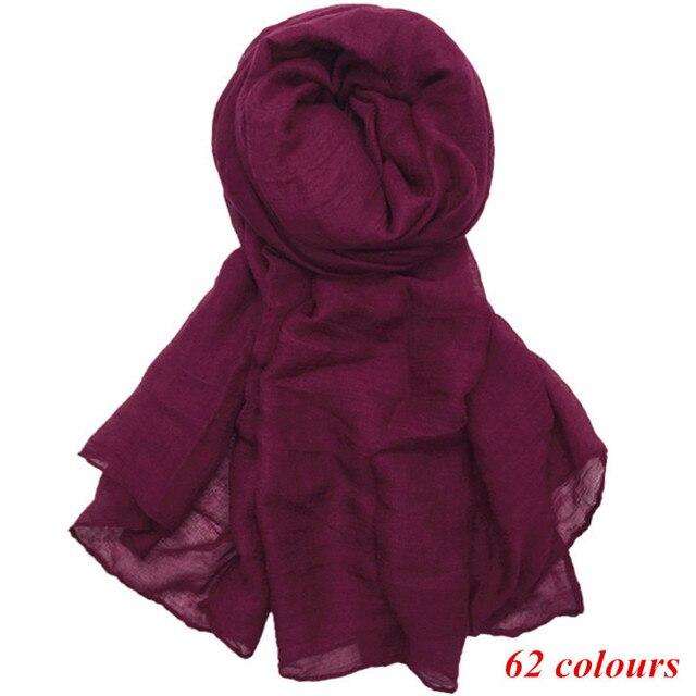 Large maxi plain scarf solid hijab fashion wraps foulard viscose cotton shawls soft muslim women scarves hijabs 10pcs/lot